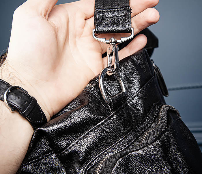 BAG547 Большая кожаная сумка для вещей с длинными ручками фото 10
