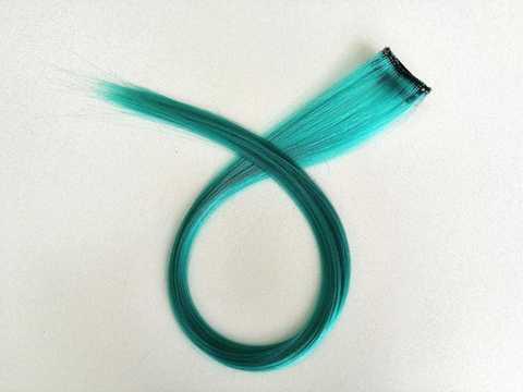 Пряди для волос, цвет аквамарин. Длина 47см. (1402)