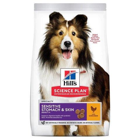 Сухой корм Hill's Science Plan Sensitive Stomach & Skin для взрослых собак мелких пород с чувствительной кожей и/или пищеварением, с курицей