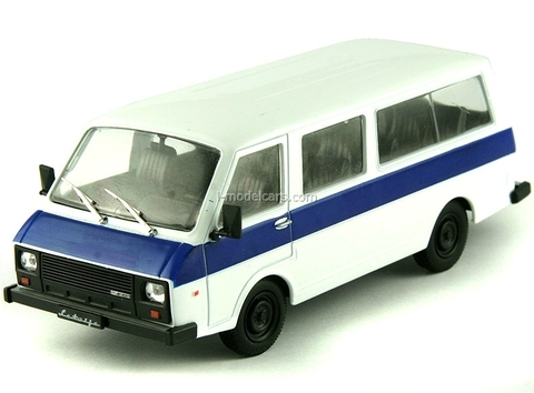 RAF-22038 Latvia white-blue 1:43 DeAgostini Auto Legends USSR #74