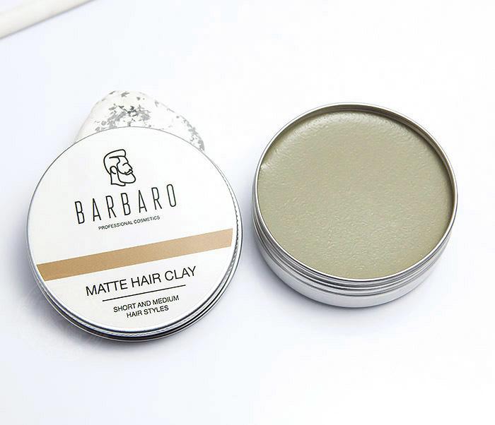 RAZ1021 Матовая глина «Barbaro» для укладки волос с сильной фиксацией (60 гр)