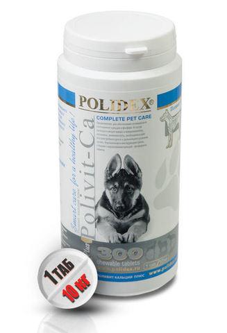 Поливит-Кальций плюс для собак 300 таб.
