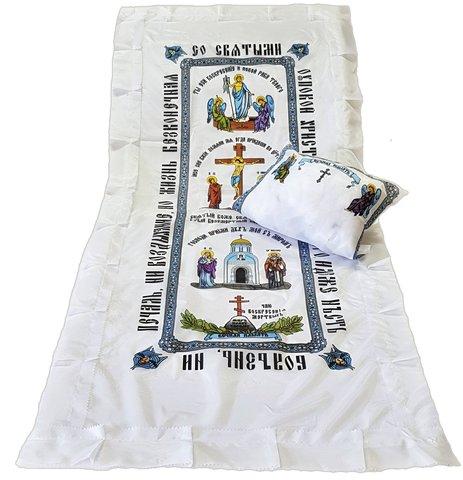 Комплект шелк с цветной церковной печатью