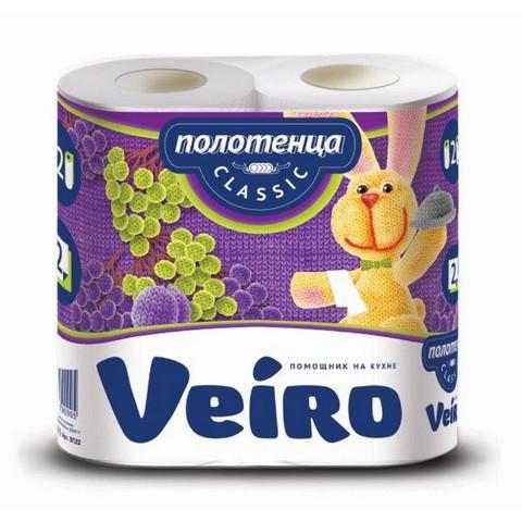 Полотенца бумажные Veiro Classic 2-слойные белые 2 рулона по 12.5 метров