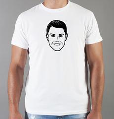Футболка с принтом Криштиану Роналду (Cristiano Ronaldo) белая 009