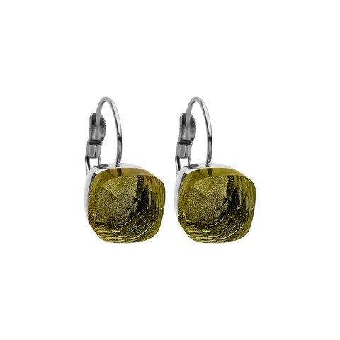 Серьги Firenze olivine 304141 G/S