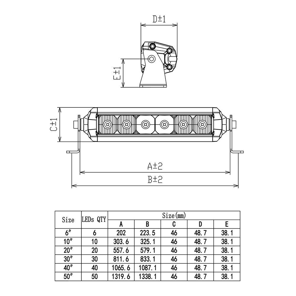 Фара Aurora 10 комбинированного инфракрасного света ALO-HS5-10-P7E7F ALO-HS5-10-P7E7F