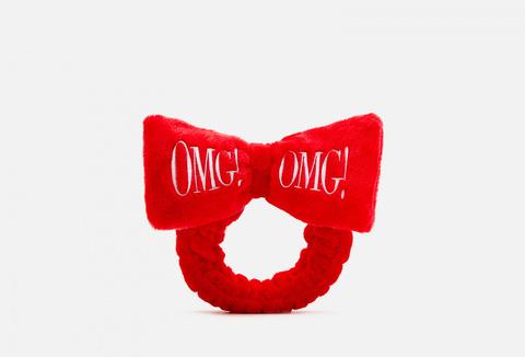 Бант-повязка для фиксации волос во время косметических процедур, красный  Double Dare OMG! HAIR BAND