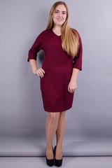 Вікторія. Модна сукня великих розмірів. Бордо.