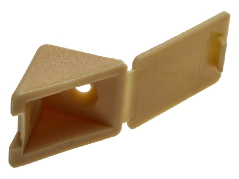 Уголок мебельный с шурупом, цвет сосна, 4,0x15мм, 4шт, ЗУБР