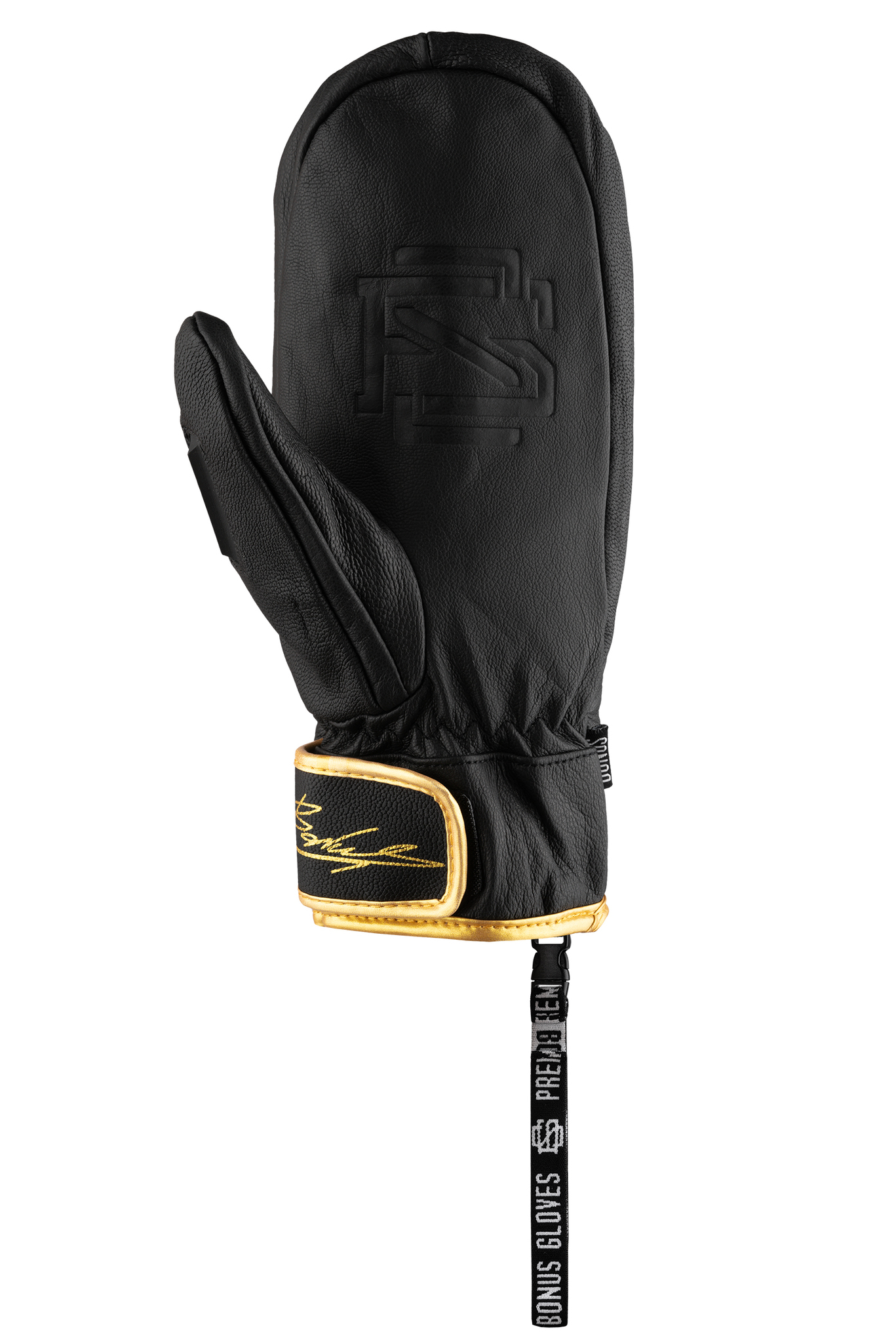 Варежки BONUS GLOVES - LEATHER Black 19/20