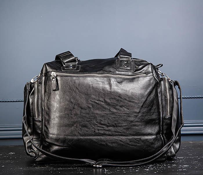 BAG547 Большая кожаная сумка для вещей с длинными ручками фото 11