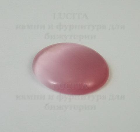 Кабошон Кошачий глаз розовый (20х4-5 мм) ()