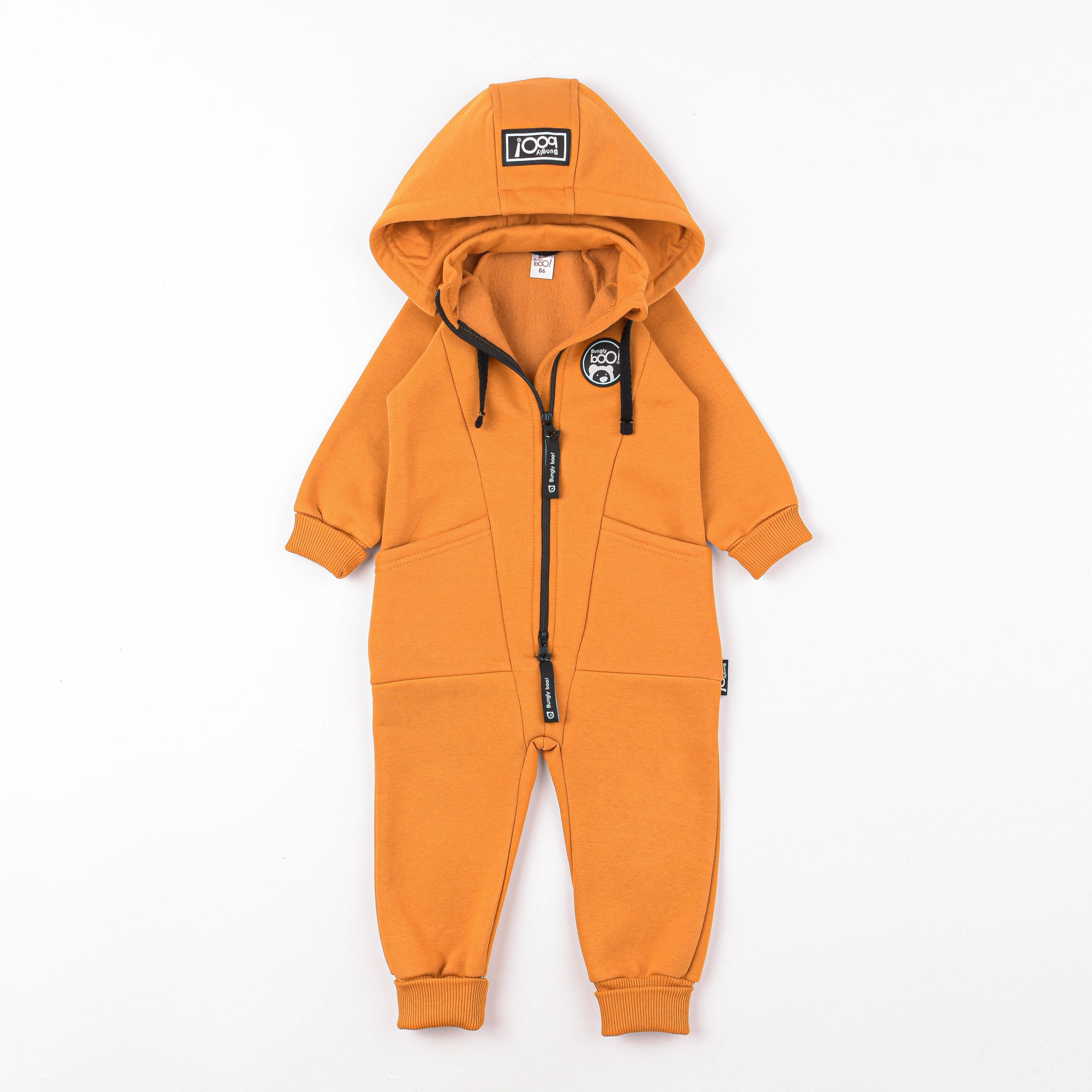 Transformer jumpsuit with flap - Amber Yellow