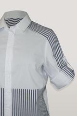 Блузка Konfex 300 рубашка однотон/полоска