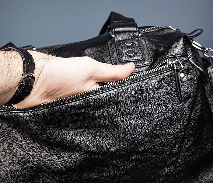 BAG547 Большая кожаная сумка для вещей с длинными ручками фото 12