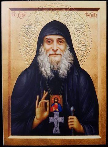 Икона святой Старец Гавриил (Ургебадзе) грузинский на дереве на левкасе мастерская Иконный Дом