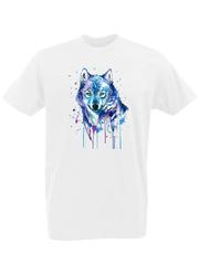 Футболка с принтом Волк (Wolf) белая 0002