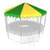 Крыша для батута Unix 10 ft (green)
