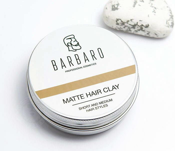 RAZ1021 Матовая глина «Barbaro» для укладки волос с сильной фиксацией (60 гр) фото 03