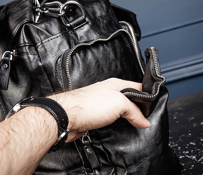 BAG547 Большая кожаная сумка для вещей с длинными ручками фото 13