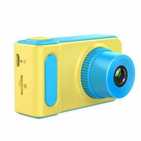 Детский цифровой фотоаппарат Kids Camera Summer Vacation голубой