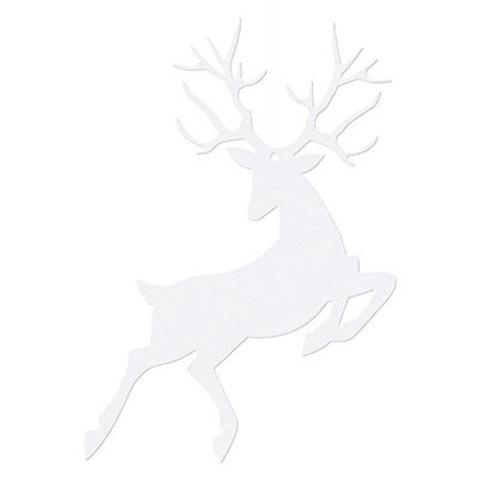Фигура бумажная Олень белый, 10 штук