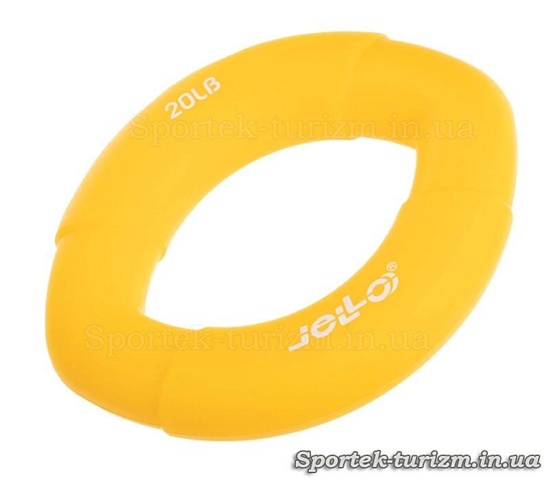 Эспандер кистевой овальный резиновый Jello (9 кг - 20LB)
