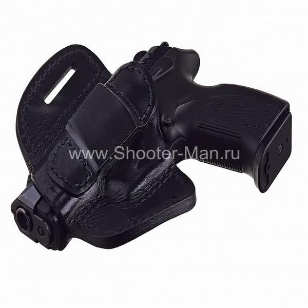 Кобура кожаная для пистолета Grand Power Т 10 и Т 12 поясная ( модель № 11 ) Стич Профи