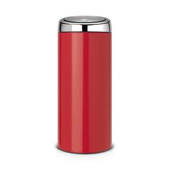 Мусорный бак Brabantia Touch Bin (30л), Пламенно–красный/крышка полированная