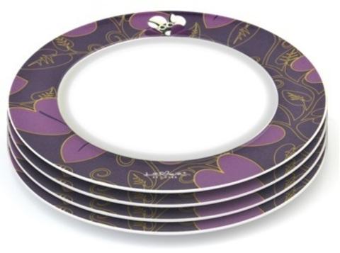 Круглая тарелка фиолетовая 21,5см(4х) Lover by lover