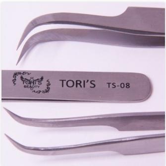 Пинцет Toris Beauty изогнутый для объемного наращивания TS-08