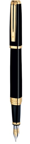 Перьевая ручка Waterman Exception, цвет: Ideal Black/GT123