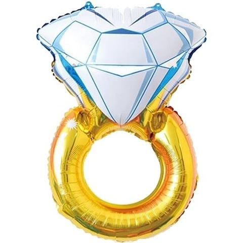 Воздушный шар фигура Кольцо с бриллиантом, 102 см