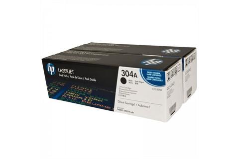 Оригинальный картридж HP CC530AD (№304A), чёрный (двойная упаковка)