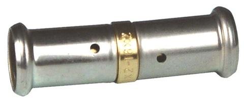 Henco муфта пресс 20х20 мм равнопроходная соединительная для металлопластиковых труб (15P-2020)