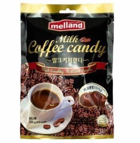 Леденцы Melland Milk Coffee Candy со вкусом кофе с молоком 100 гр