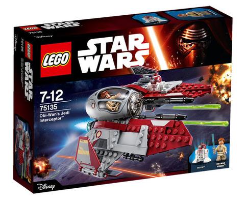 LEGO Star Wars: Перехватчик джедаев Оби-Вана Кеноби 75135 — Obi-Wan's Jedi Interceptor — Лего Звездные войны Стар Ворз