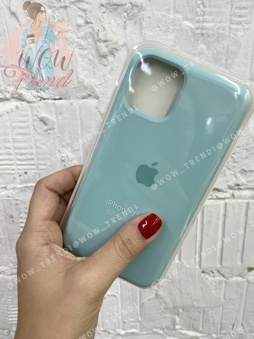Чехол iPhone 11 Silicone Case /marine green/ нежно-мятный 1:1