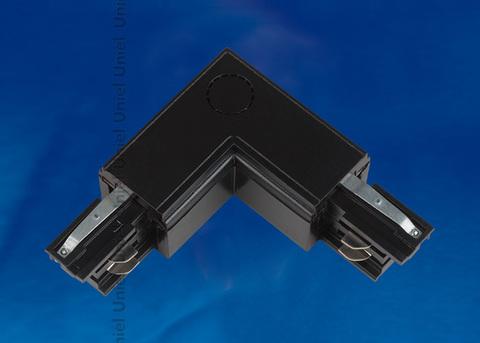 UBX-A22 BLACK 1 POLYBAG Соединитель для шинопроводов L-образный. Внутренний. Трехфазный. Цвет — черный. Упаковка — полиэтиленовый пакет.