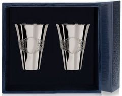 Набор серебряных стопок «Подарочная» из 2 предметов
