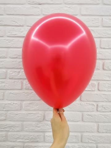 №5 Красный Гелиевый шар металл 30см с обработкой