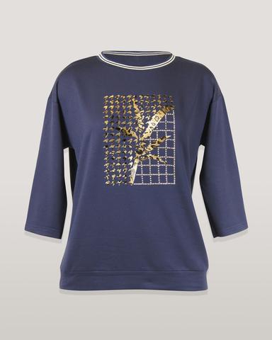 Блузка Per Mio 1477 однотон. квадрат 3/4