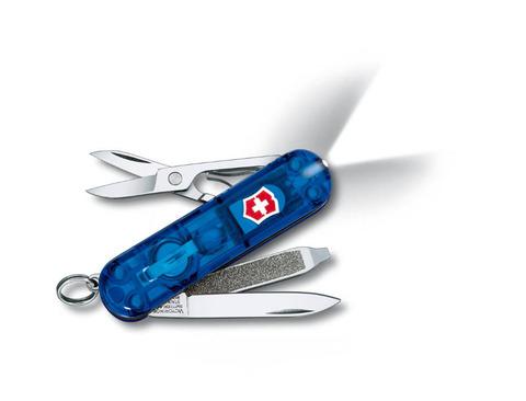 Нож-брелок VICTORINOX Swiss Lite 58 мм 7 функций полупрозрачный синий VC6228.T2