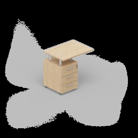 Приставная тумба (3 ящика) с топом
