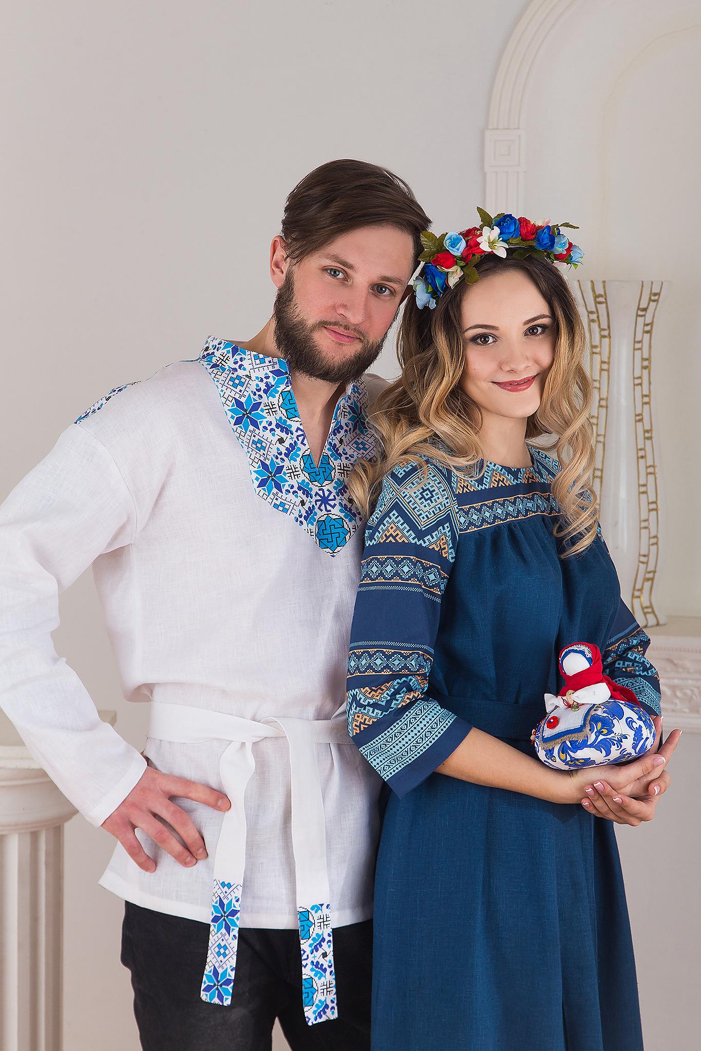 Русская рубаха Северная с поясом