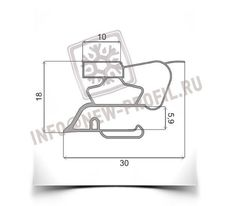 Уплотнитель для холодильника Индезит SB167 мк 655*570 мм(022)
