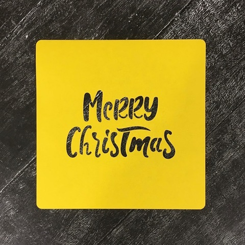 Трафарет новогодний №21 Merry Christmas/Счастливого Рождества