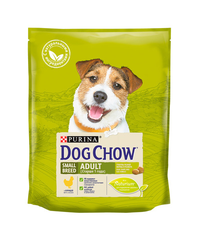 Purina Dog Chow сухой корм для собак взрослых мелких пород (курица) 800 г