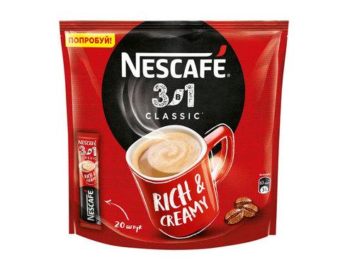 купить Кофе растворимый Nescafe Classic 3 в 1, 20 стиков